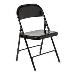 Rio steel folding chair black at wilko com