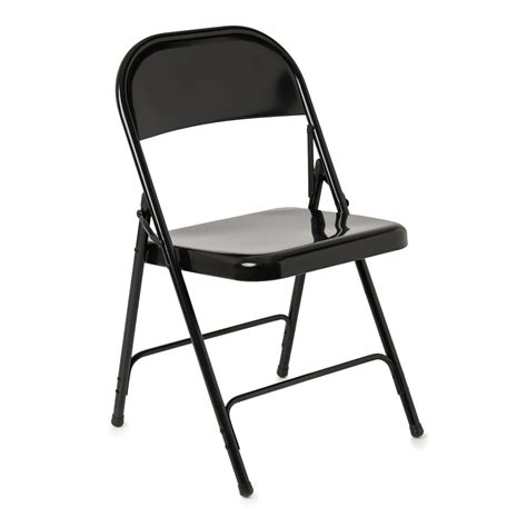 steel folding chair black at wilko