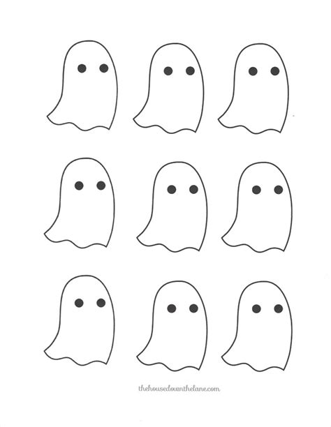ghost template printable diy ghostly garland calyx corolla