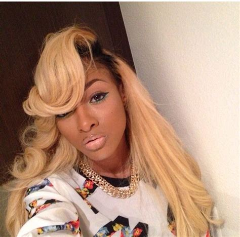 blonde sew in on dark kin 181 best colored weave hair styles images on pinterest