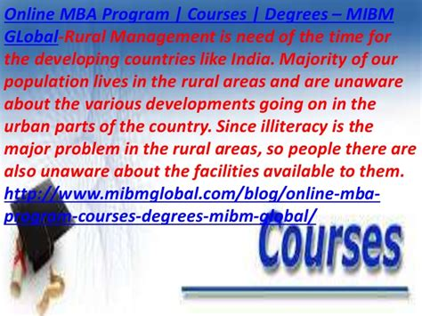 Mba Rural Management Syllabus by Mba Program Courses Degrees Developments Going On