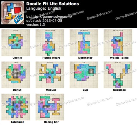 doodle fit solutions doodle fit lite lite pack 2 solutions solver