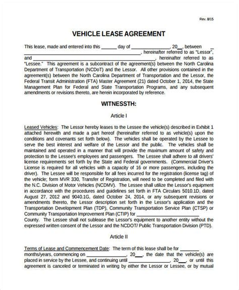 truck lease agreement template 32 lease agreement forms in pdf