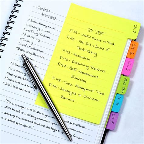 note ideas redi tag divider sticky notes 60 ruled notes