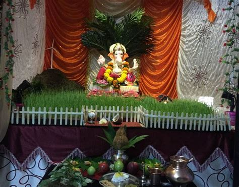 ganpati decoration at home ganpati decoration ideas at home with theme projects to