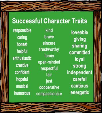 Character Traits Characterization Success Character | satur english march 2014