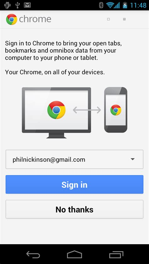 sign into chrome on android chrome beta now available for android 4 0 devices android central