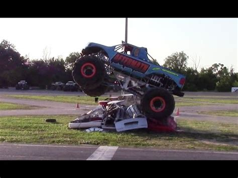 monster truck show michigan aftermath jump competition at monster truck show in clio