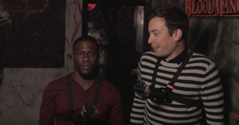 kevin hart haunted house kevin hart and jimmy fallon visit new york city s scariest