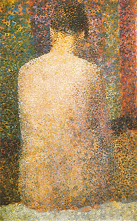 seated model side view 1887 georges seurat oil seated model back georges seurat fine art reproduction