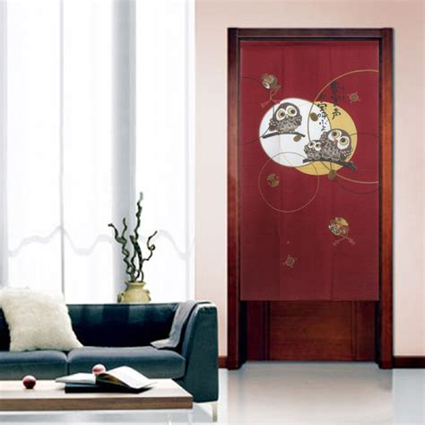 japanese door curtains a happy owls family japanese door curtain noren