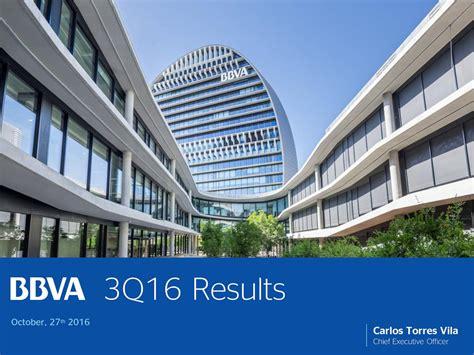 banco bilbao vizcaya argentaria s a banco bilbao vizcaya argentaria s a 2016 q3 results