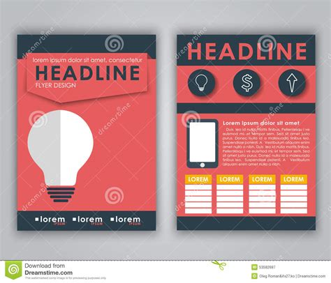 flyer text layout flyer design for advertising stock vector image 53582687