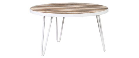 white metal coffee table rochelle 80x45 coffee table in white metal and wood