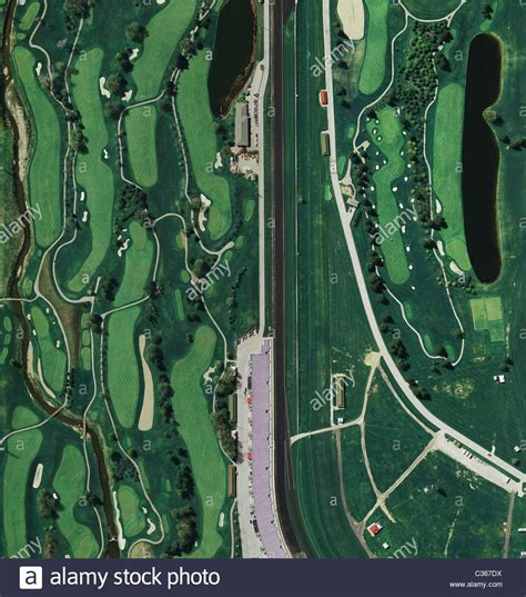 golf course at indianapolis motor speedway aerial map view above golf course at indianapolis motor