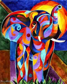 Elephant Shower Curtain Elephant Dream Painting By Sherry Shipley