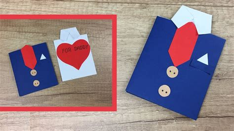 how to make fathers day cards gift card diy idea for s day easy to make for