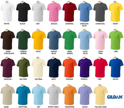 gildan tshirt colors gildan mens ultra cotton t shirt sleeve unisex s