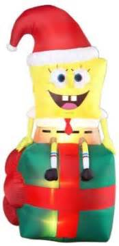Christmas Inflatable Yard Decorations Christmas Outdoor Decorations On Pinterest Spongebob