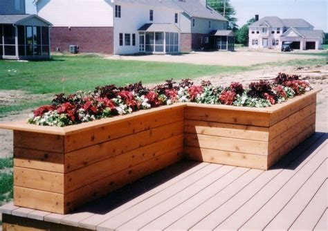 Deck Planter Boxes by Deck Planter Box Ideas Decks By Design Of Indiana