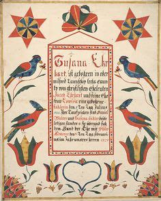Bucks County Marriage Records Fraktur On Watercolor And Ink Folk And