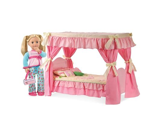 our generation doll bed sweet dreams canopy bed our generation dolls 18 quot dolls