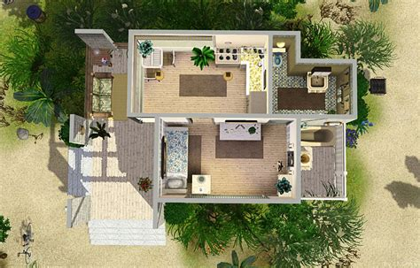 Floor Plans Small House by Mod The Sims Beach Cabin Small Beach House For Single