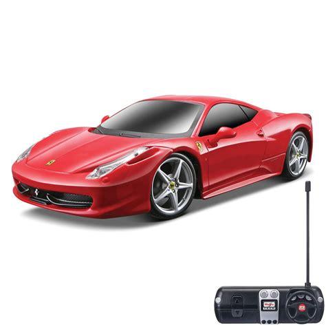 Ferngesteuertes Auto Ferrari by Maisto Ferrari 458 Italia Remote Control Car 1 24 Scale Ebay