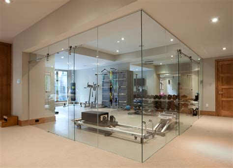Glass Wall Home Fitness Room   Contemporary   Home Gym   Toronto   by JJ Home Products Inc