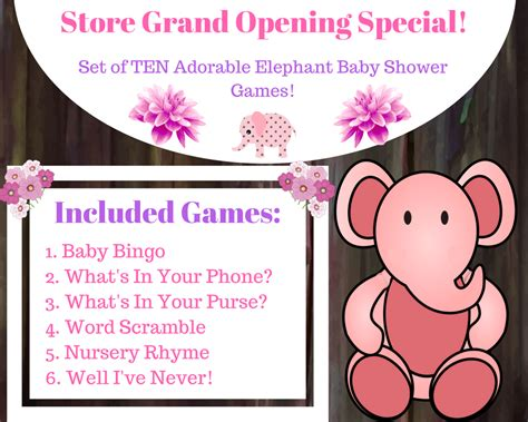 Gamis Set Baby Pink 10 elephant baby shower for a