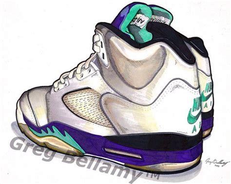 Drawing Jordans by Air V Grape Sneaker Brain Air
