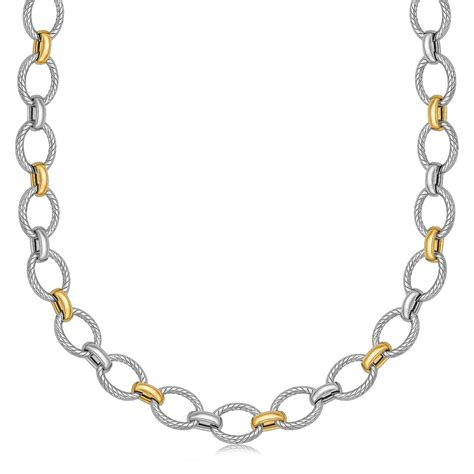 silver and gold cut rope chains charms charm