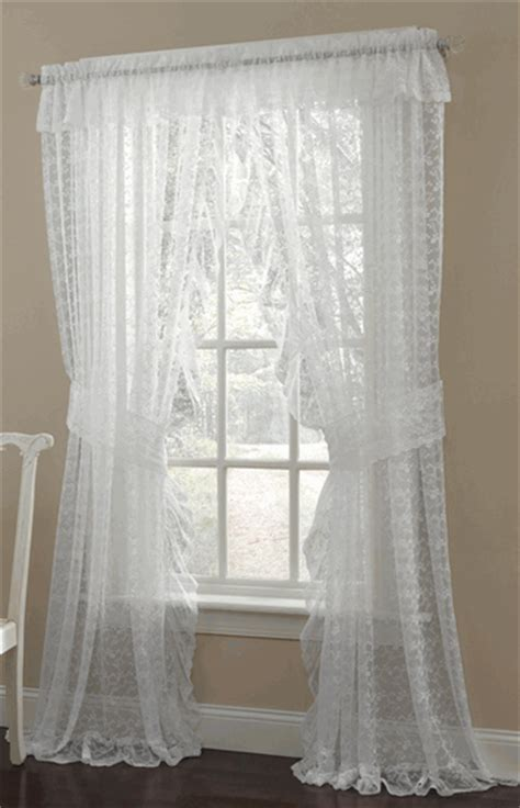 priscilla style shower curtains priscilla ruffled lace curtain pair style 6619