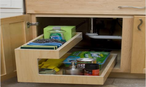 under sink organizer kitchen pull out storage drawers