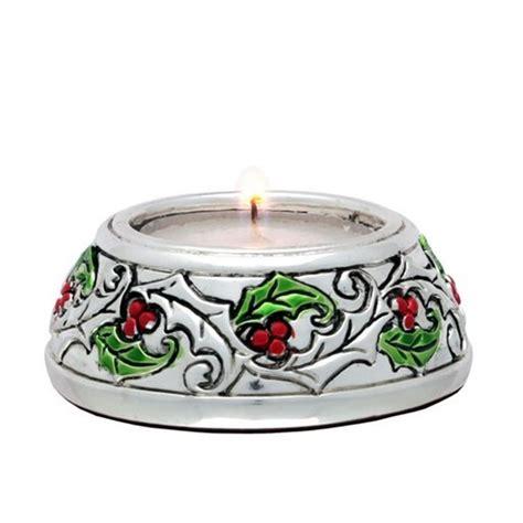 candela bugia portacandela tonda in laminato argento con candela bugia
