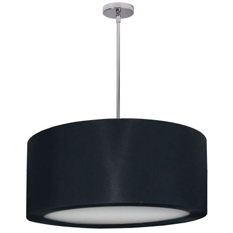 Pendant Light With Diffuser Radionic Hi Tech 4 Light Polished Chrome Pendant With Black Lycra Shade With Diffuser