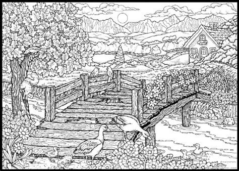 detailed landscape coloring pages for adults free coloring pages of very hard adult
