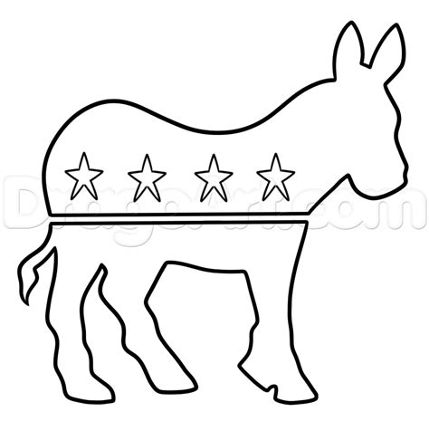 democratic symbol and color how to draw the democrat logo step by step symbols pop