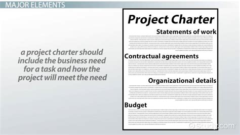 project charter elements  video