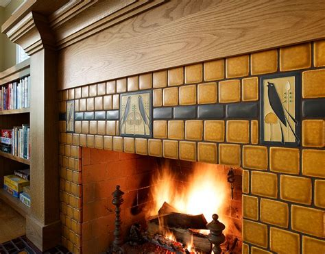 craftsman fireplace tile 17 best images about craftsman fireplaces on