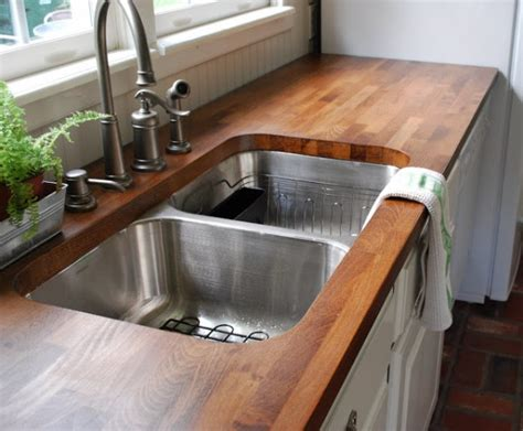 Install Butcher Block Countertop by S Cottage Kitchen Presto The Lettered