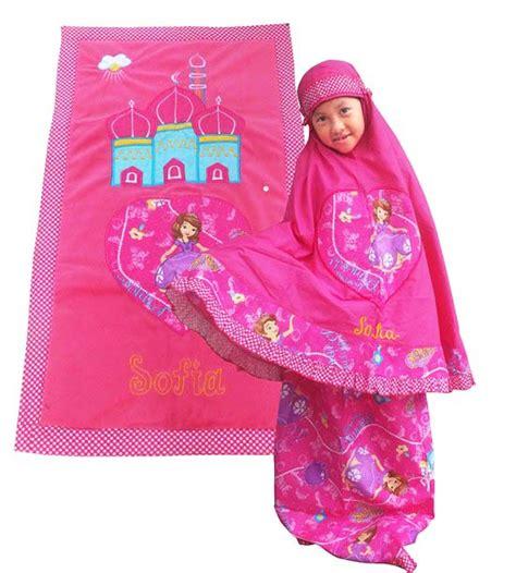 Mukena Anak Sofia Pink L mukena anak lucu toko bunda