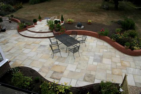 Design My Patio by Hand Cut Indian Sandstone Fossil Mint Alda Landscapes
