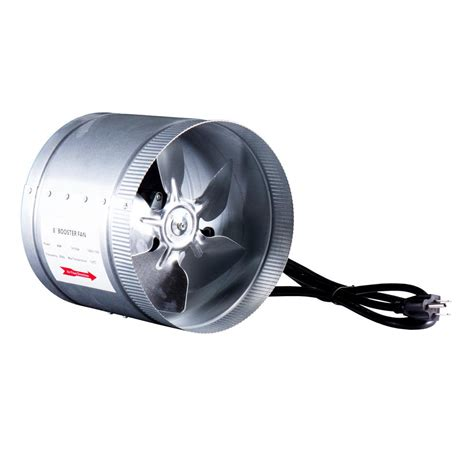 Hydro Crunch 420 Cfm 8 In Inline Duct Booster Fan For