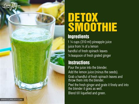Spinach Detox Drinks by Spinach Smoothie Weight Loss