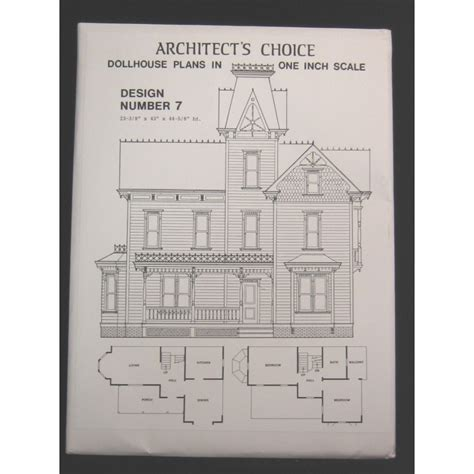 free dollhouse floor plans dollhouse plans design 7 architect s choice 1 12 scale