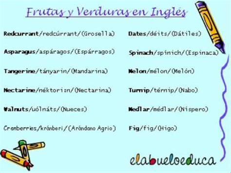 preguntas mas comunes en ingles con pronunciacion aprende las frutas y verduras en ingl 233 s con elabueloeduca