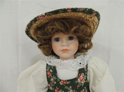 porcelain doll green dress porcelain doll green flower dress