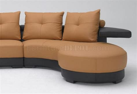 two tone leather sofa black and brown two tone full leather modern sectional sofa
