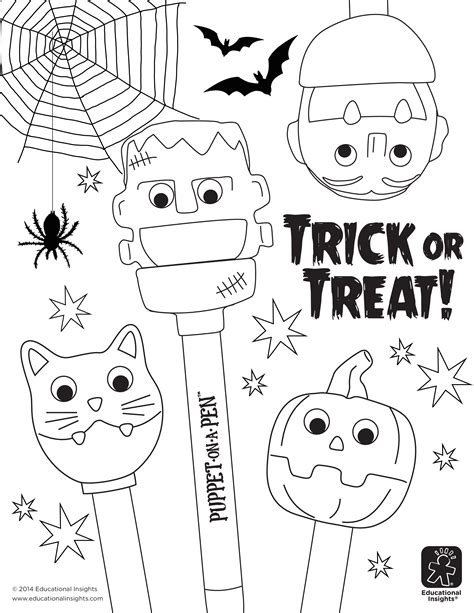 educational insights coloring pages free downloadables fangtastic halloween coloring pages